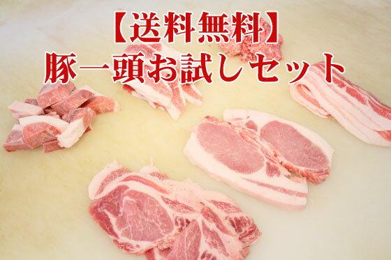 送料無料 十勝豚一頭お試しセット1.2kg