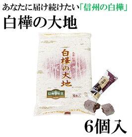 【長野 お土産】白樺の大地6個入(白樺の樹液入り) 長野県の県木白樺をイメージしたサクサクのチョコクランチです 信州みやげ 信州芽吹堂 菓子