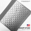 STEWART/STAND(スチュワート・スタンド)小銭入れあり財布(ダイアモンド): 財布 メンズ 小銭入れ ステンレス スキミング防止 スリム 薄い 軽い 軽量 光沢 プレゼント ギフト