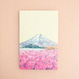 季節のはがき[秋]富士とコキア