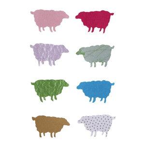 めでたや工房和紙きり絵 カラフル羊