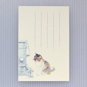 季節の絵はがき[冬]猫とストーブ