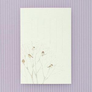 季節の絵はがき[冬]ふくら雀