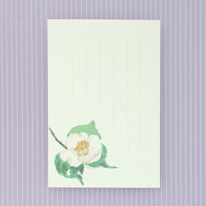 季節の絵はがき[冬]白一重椿