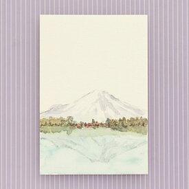 季節のはがき[冬]逆さ富士