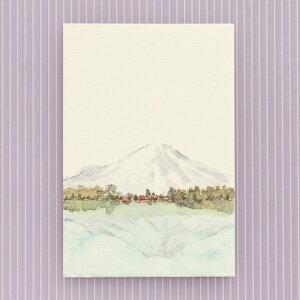 季節の絵はがき[冬]逆さ富士