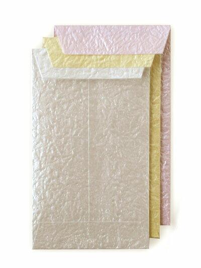 つやつや和紙ぽち袋ピンク・クリーム・白
