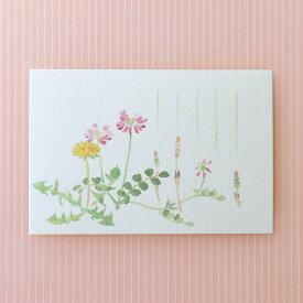 季節のはがき[春]春草