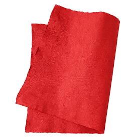 手すき和紙強制紙 朱赤(約90cm×60cm 耳付き)