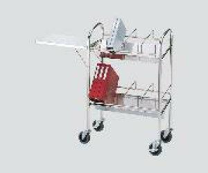 カルテワゴン(静音タイプ)折りたたみ式テーブル付収納数:40冊