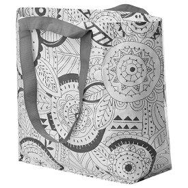 IKEA/イケア SLAFEN スラフェン キャリーバッグM 花柄 ショッピングバッグ エコバッグ メール便送料無料 ポイント消化