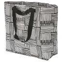 IKEA/イケア FISSLA フィスラ キャリーバッグ M ホワイト ブラック ショッピングバッグ エコバッグ メール便…