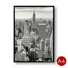 A4ポスター ニューヨークの風景 モノクロ モノトーン インテリア 自然 景色 風景 写真 アートポスター 壁飾り ポイント消化 送料無料