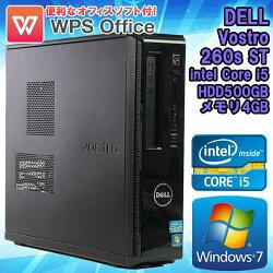 WPSOffice付中古デスクトップパソコンDELL(デル)VOSTRO(ボストロ)260sSTWindows7Corei524003.10GHzメモリ4GBHDD500GBDVDマルチドライブHDMI初期設定済送料無料(一部地域を除く)