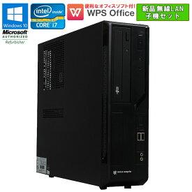 設定済 新品無線LAN子機セット! WPS Office付 【中古】 デスクトップパソコン mouse computer BTO(自作ゲーミング系) MousePro MPro-is470X Windows10 Pro Core i7 4790 3.60GHz メモリ16GB SSD180GB HDD1TB DVDマルチドライブ NVIDIA Quadro K620 初期設定済 送料無料