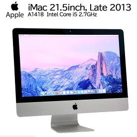 限定1台!★ 【中古】 一体型パソコン Apple(アップル) iMac 21.5インチ Late 2013 A1418 Mac OS X Yosemite(10.10.5) Core i5 4570R 2.7GHz メモリ16GB HDD1TB Intel Iris Pro テスト用OS インストール済 90日保証 送料無料(一部地域を除く)