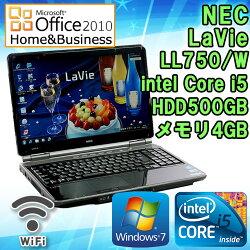 MicrosoftOffice2010H&B付き【中古】ノートパソコンNECLaVieLL750/WWindows715.6インチ(1366×768)Corei5M4302.26GHzメモリ4GBHDD500GBブルーレイドライブHDMI端子テンキー付初期設定済送料無料(一部地域を除く)