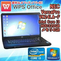 WPSOffice付【中古】NECVersaProVA-FタイプVK24LA-FWindows10Corei33110M2.40GHzメモリ4GBHDD320GBDVD-ROMドライブ初期設定済送料無料(一部地域を除く)