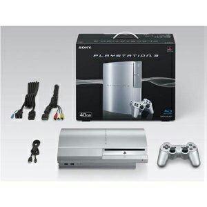 【中古】[本体][PS3]プレイステーション3 PLAYSTATION 3 HDD40GB サテン・シルバー(CECH-H00SS)(20080306)