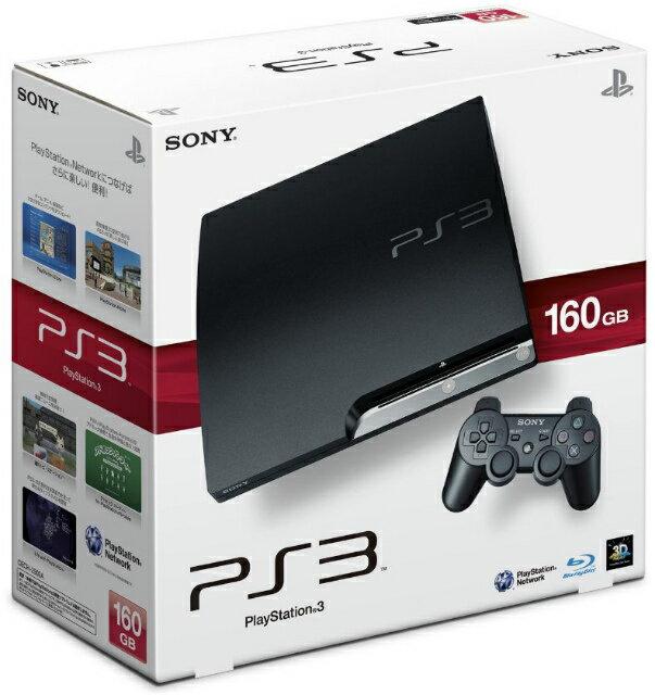 【中古】[本体][PS3]プレイステーション3 PlayStation3 HDD160GB チャコール・ブラック(CECH-2500A)(20100729)