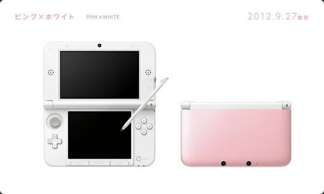 【中古】[本体][3DS]ニンテンドー3DS LL ピンク×ホワイト(SPR-S-PAAA)(20120927)