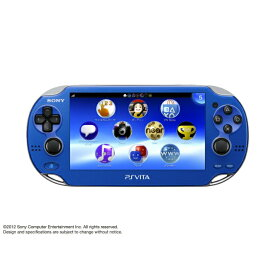 【中古】[本体][PSVita]PlayStationVita Wi-Fiモデル サファイア・ブルー(PCH-1000ZA04)(20121115)