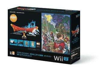 [본체][WiiU]드래곤 퀘스트 X 눈을 떠 해 다섯 살의 종족 온라인 Wii U프리미엄 세트(kuro/크로/흑)(WUP-S-KAFJ)(20130330)
