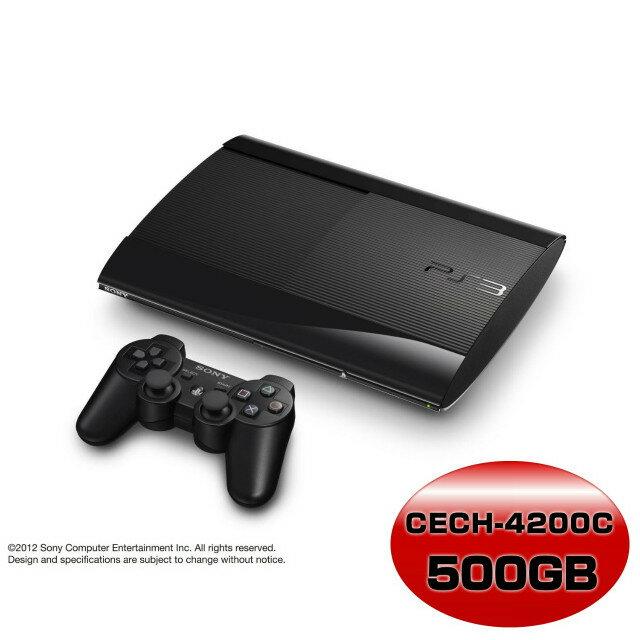【中古】【箱難あり】[本体][PS3]プレイステーション3 PlayStation3 チャコール・ブラック 500GB(CECH-4200C)(20130907)