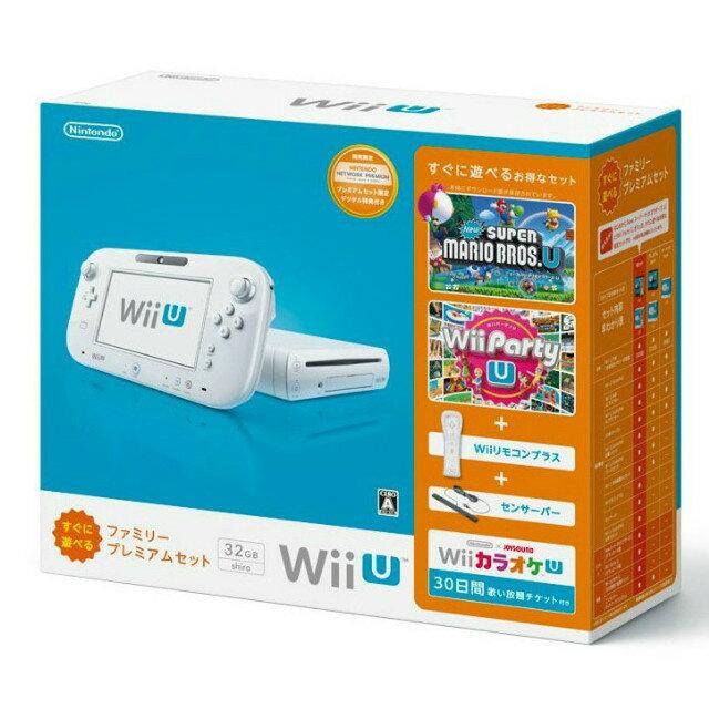 【中古】[本体][WiiU]Wii U すぐに遊べるファミリープレミアムセット(シロ)(WUP-S-WAFS)(20131031)