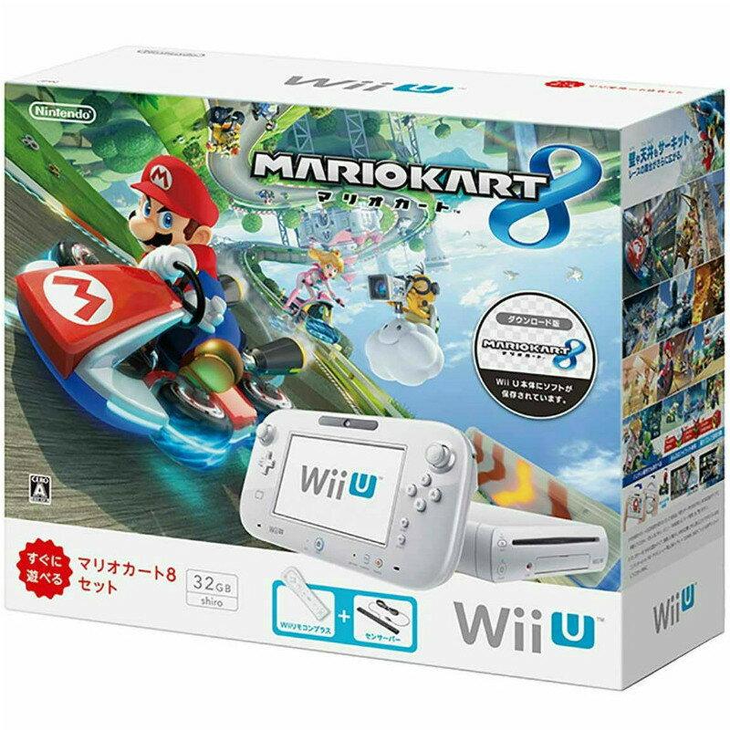 【中古】[本体][WiiU]Wii U すぐに遊べる マリオカート8 セット シロ(WUP-S-WAGH)(20141113)