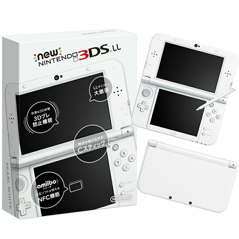 【新品即納】[本体][3DS]Newニンテンドー3DS LL パールホワイト(RED-S-WAAA)(20150611)