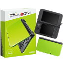 【中古】[本体][3DS]Newニンテンドー3DS LL ライム×ブラック(RED-S-MAAA)(20160609)
