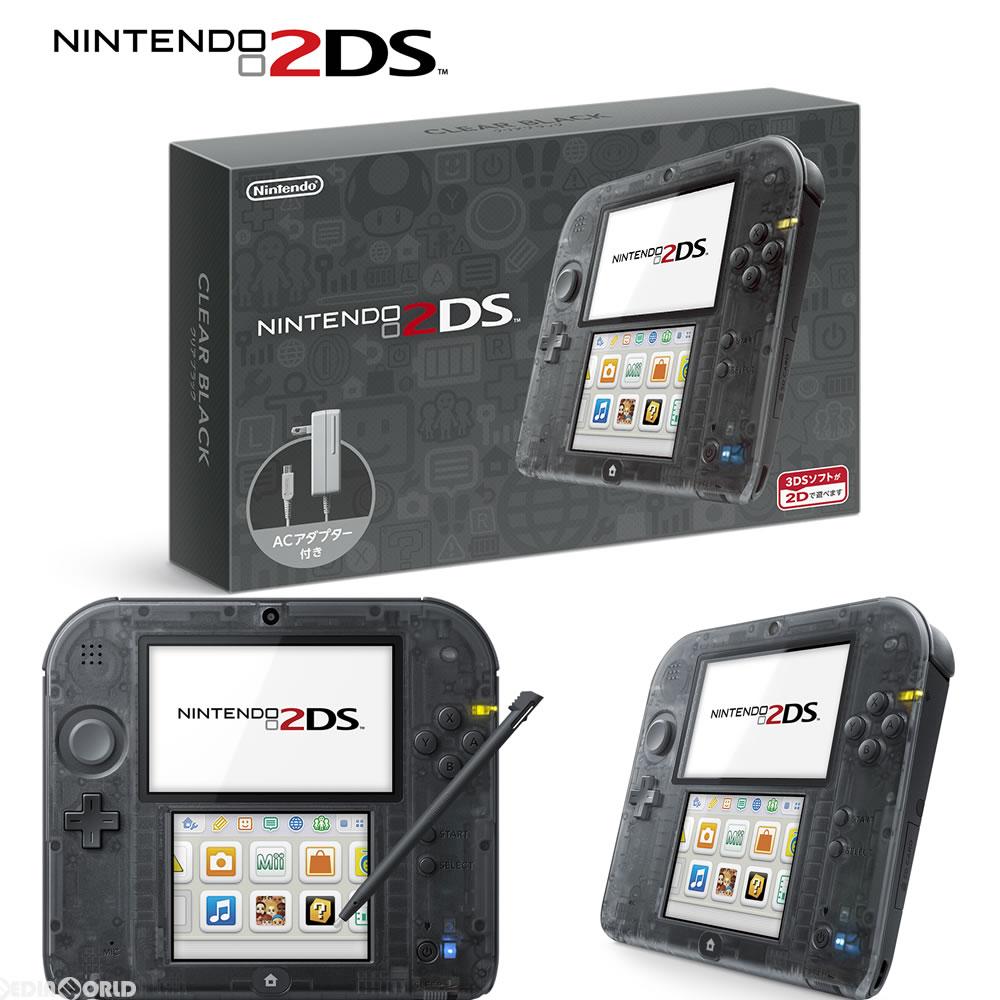 【中古】[本体][3DS]ニンテンドー2DS クリアブラック(FTR-S-KCAA)(20160915)