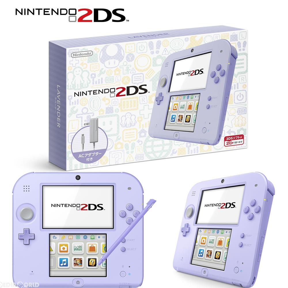 【中古】[本体][3DS]ニンテンドー2DS ラベンダー(FTR-S-UAAA)(20160915)