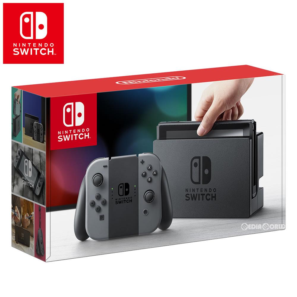 【新品即納】【正規流通品】[本体][Switch]Nintendo Switch(ニンテンドースイッチ) Joy-Con(L)/(R) グレー(HAC-S-KAAAA)(20170303)