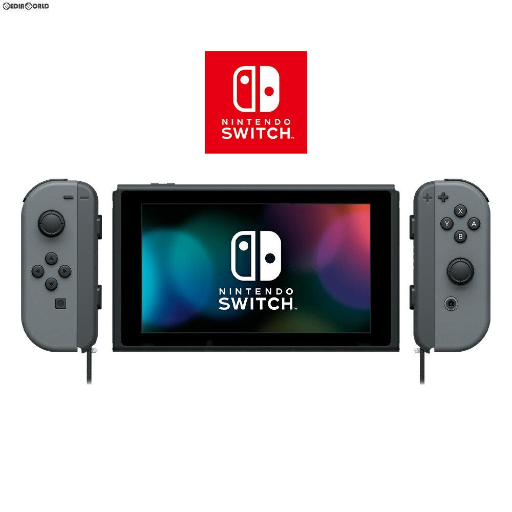 【中古】[本体][Switch]マイニンテンドーストア限定 Nintendo Switch(ニンテンドースイッチ) カスタマイズ Joy-Con(L)/(R) グレー Joy-Conストラップ(L)/(R) ブラック(HAC-S-KAAAA)(20170303)