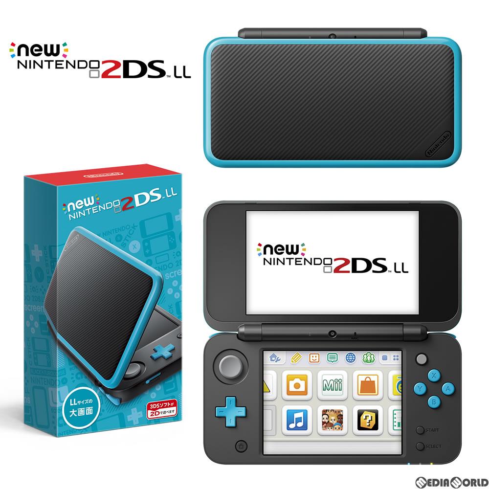 【中古】[本体][3DS]Newニンテンドー2DS LL ブラック×ターコイズ(JAN-S-BAAA)(20170713)