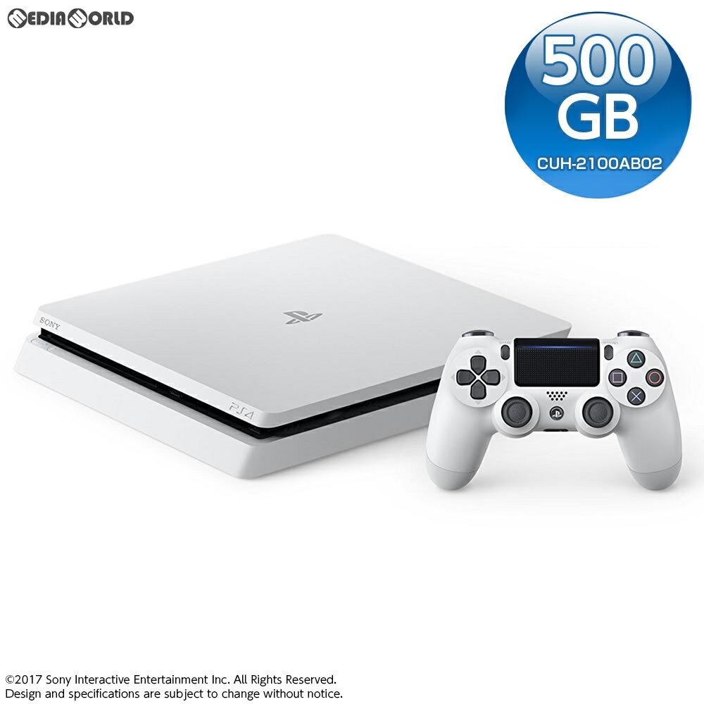 【中古】[本体][PS4]プレイステーション4 PlayStation4 グレイシャー・ホワイト 500GB(CUH-2100AB02)(20170729)