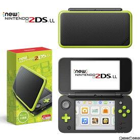 【中古】[本体][3DS]Newニンテンドー2DS LL ブラック×ライム(JAN-S-MAAA)(20171005)