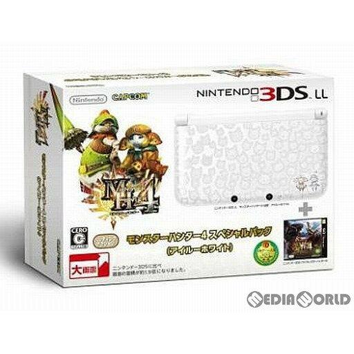【中古】[本体][3DS]モンスターハンター4 スペシャルパック (アイルーホワイト)(SPR-S-WJCD)(3DSLL本体同梱版)(20130914)