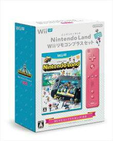 【中古】[WiiU]Nintendo Land(ニンテンドーランド) Wiiリモコンプラスセット(ピンク)(20130713)