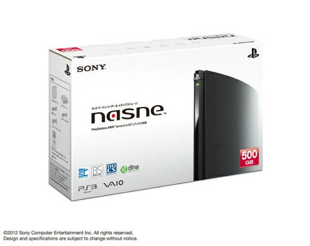 【中古】[ACC][PS3]ネットワークレコーダー&メディアストレージ nasne(ナスネ) 500GBモデル(CECH-ZNR1J)(20120830)