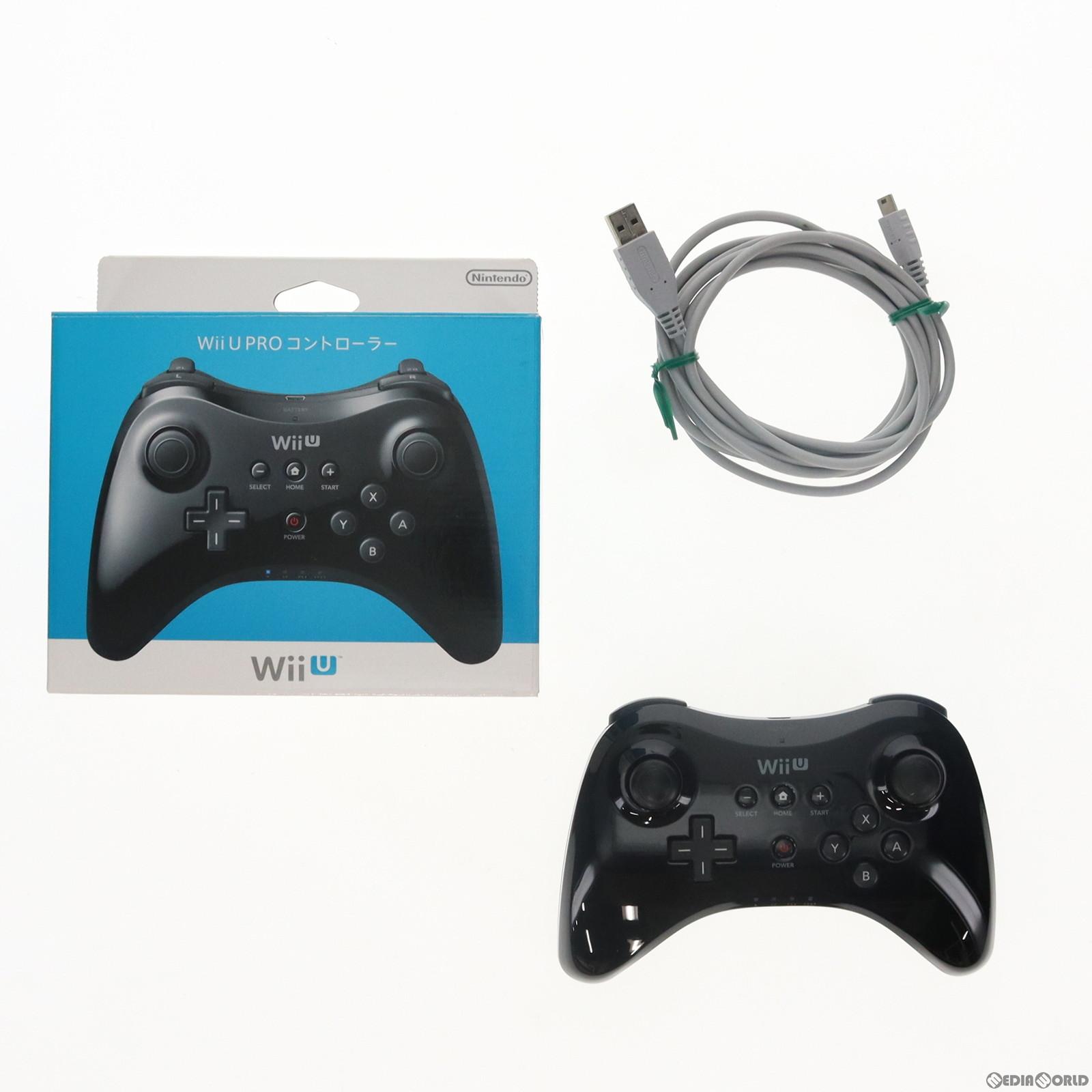【中古】[ACC][WiiU]Wii U PROコントローラー Kuro 黒 クロ 任天堂(WUP-A-RSKA)(20121208)