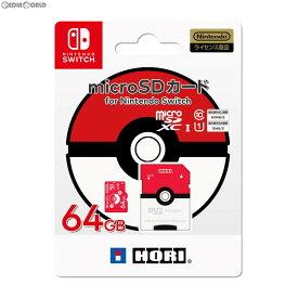 【新品即納】[ACC][Switch]ポケットモンスター microSDカード for Nintendo Switch(ニンテンドースイッチ) 64GB モンスターボール HORI(NSW-191)(20190712)