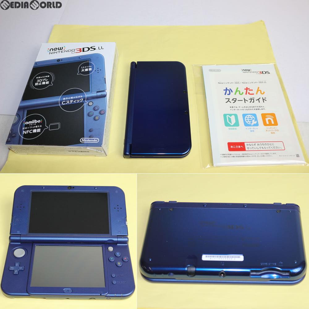 【中古】[訳あり][本体][3DS]Newニンテンドー3DS LL メタリックブルー(RED-S-BAAA)(20141011)