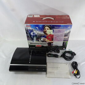 【中古】【訳あり】[本体][PS3]プレイステーション3 PlayStation3 HDD80GB ウイニングイレブン × UEFA Champions League アニバーサリーBOX(クリアブラック)(VT018-J1)(20081127)