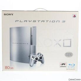【中古】【訳あり】[本体][PS3]プレイステーション3 PlayStation3 HDD80GB サテン・シルバー(CECHL00SS)(20081130)