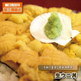 海鮮丼 うに丼 『 ★手軽で簡単&豪華★ 生ウニ丼 』 雲丹丼 海胆丼