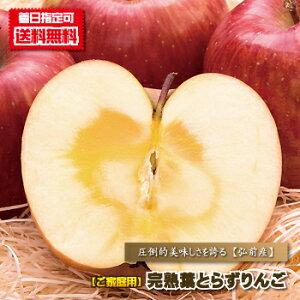 りんご 訳あり 『 【ご家庭用】津軽の完熟葉とらずりんご/10kg箱 』 送料無料 リンゴ 林檎
