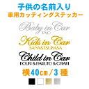 【横40cm】子供の名前入り筆記体ベビーインカー&キッズインカー&チャイルドインカーステッカー 名入り Kidsincar ステ…